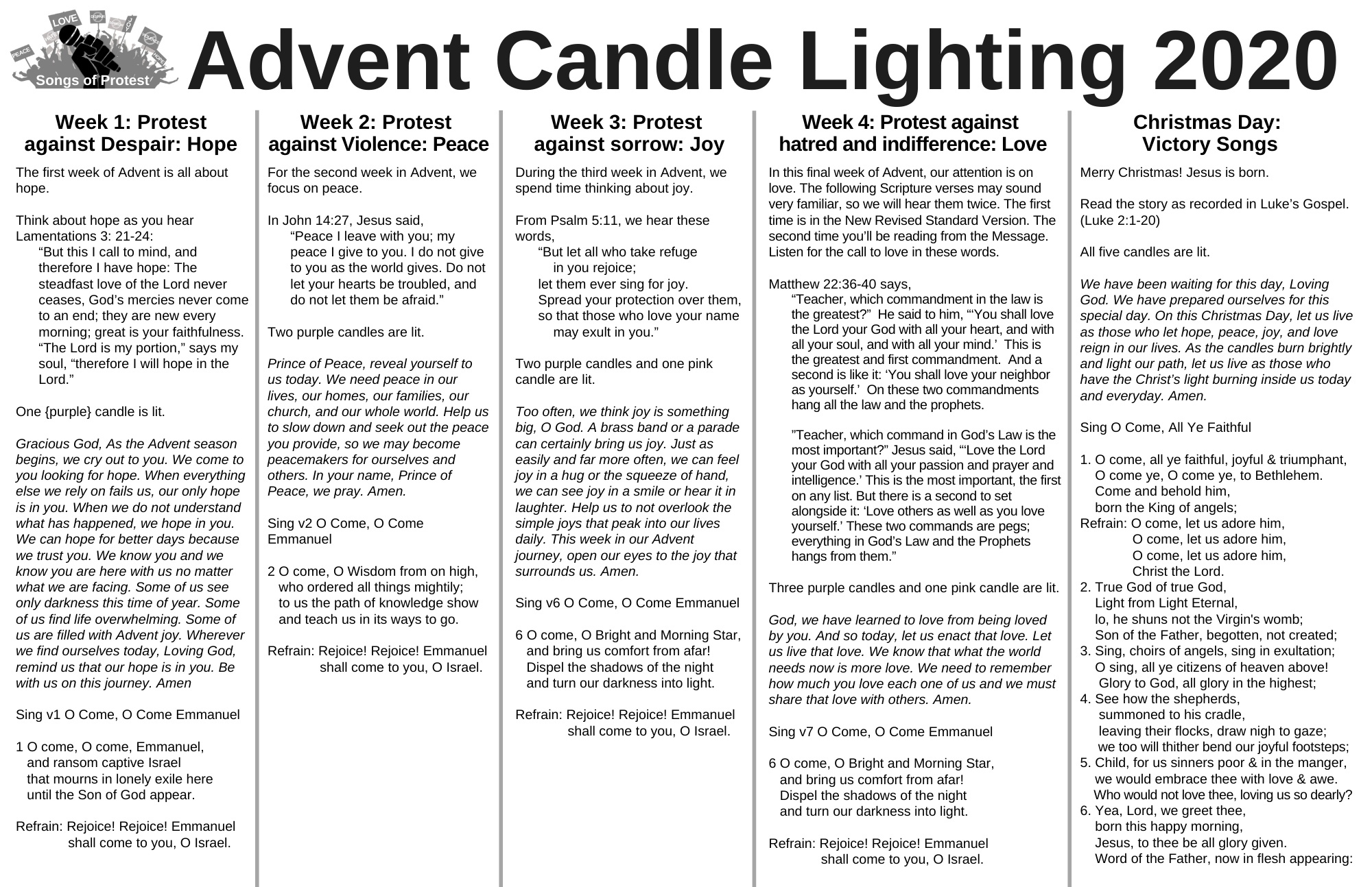 Advent Candle Lighting 2020